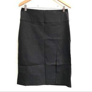 Banana Republic Black Pencil Skirt With Front Slit